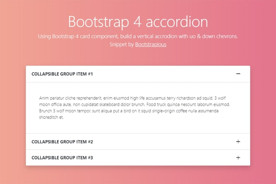 Bootstrap Accordion