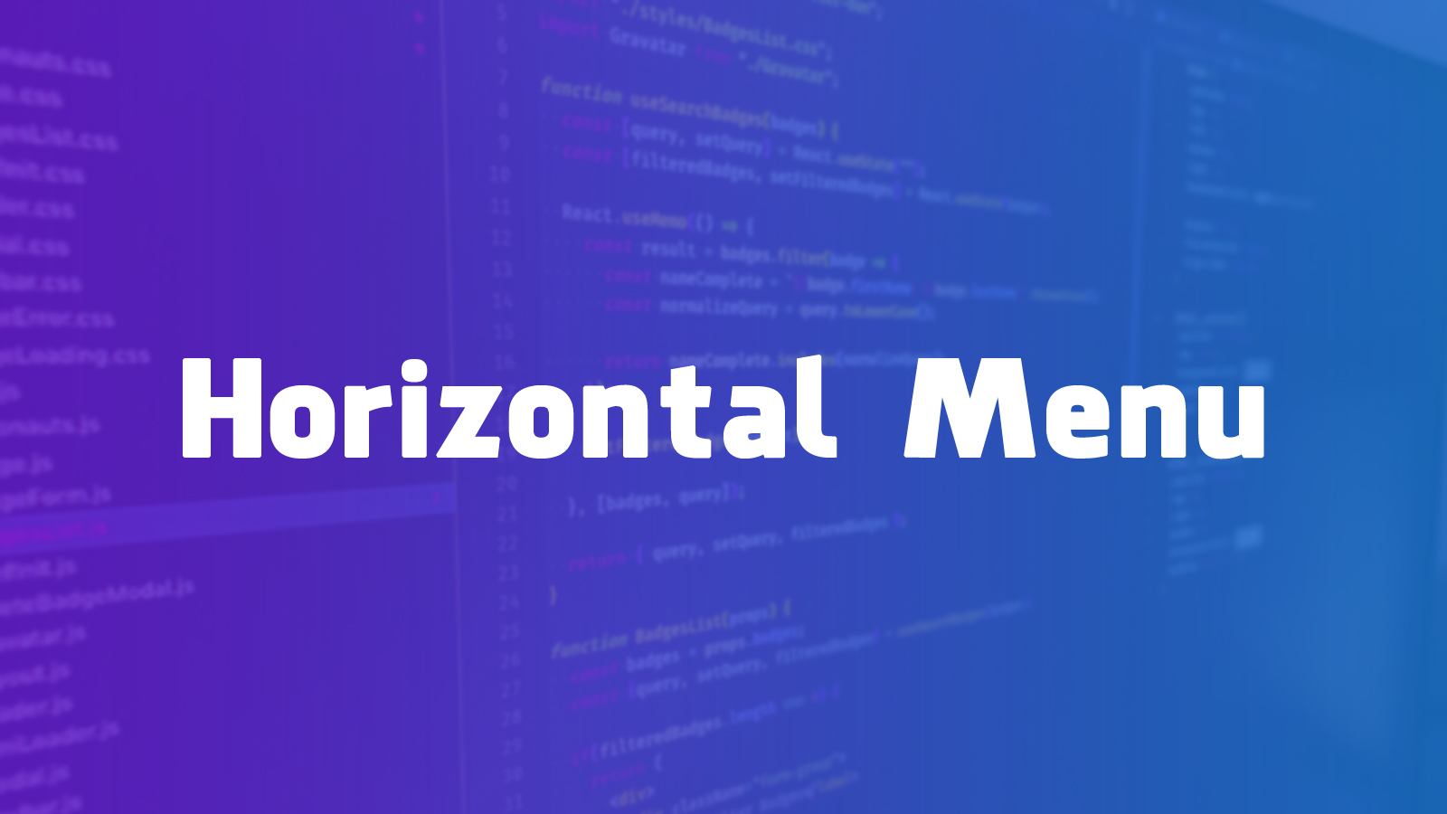 How to make a Horizontal Menu with Equal Width & Adjustable Items